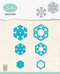 LDSF002 Layered Dies snowflakes