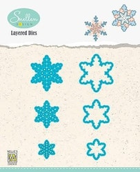 LDSF001 Layered Dies snowflakes 01