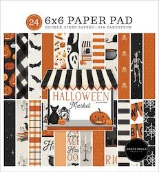 CBHM121023 Halloween market pappersblock 6x6