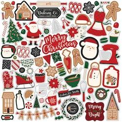 GC221014 Gingerbread Christmas Dekoration stickers