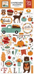 HAP219021 Happy Fall chipboard stickers