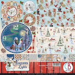 CBT038 Ciao Bella Northern Lights Pappersblock 12x12