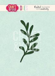 CW092 Dies Craft&you  Misteltoe twig
