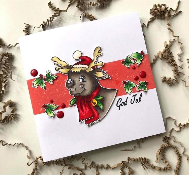 ADC003Clearstamp  Rudolph