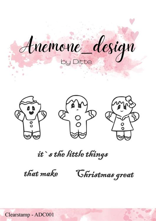 ADC001Clearstamp  Happy Christmas