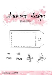 ADC005Clearstamp  Gift Tag