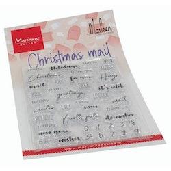 CS1070 Clearstamp olika Julhälsningar  Engelsk text