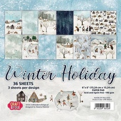 CPB-WH15Block Winter holiday 6x6