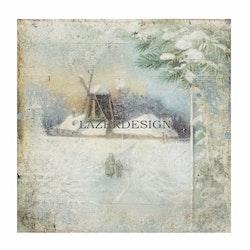 2020-61Lazerdesign Julpapper 14,5x14,5 cm