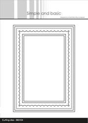 SBD104DIES Simple and Basic Kortbas Rektangel
