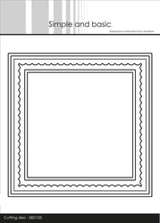 SBD105DIES Simple and Basic Kortbas Fyrkantig