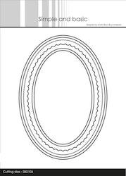 SBD106DIES Simple and Basic Kortbas oval