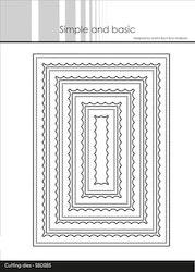 SBD085 Dies Rektangel innerscallop