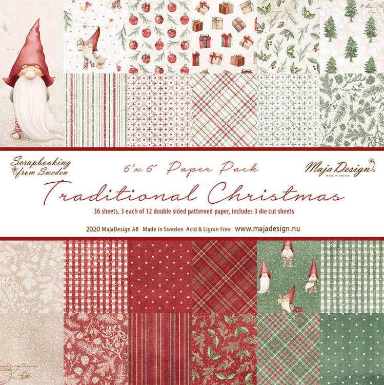 1128 Maja Design Traditional Christmas block 15x15 cm