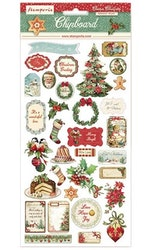 DFLCB05Stamperia Classic Christmas Chipboard