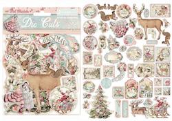 DFLDC15Stamperia Pink christmas Die Cuts