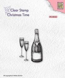 CT039Clearstamp Happy New Year