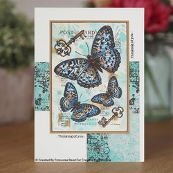 FRS829-Woodware Three Butterfly