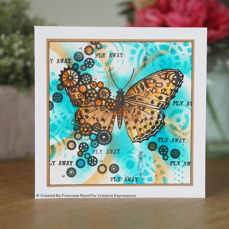 FRS831Clearstamp Cog Butterfly