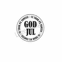 24175-Stämpel GOD JUL rund