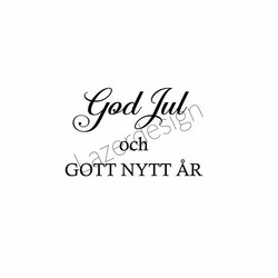 24176-Stämpel God Jul och Gott Nytt År