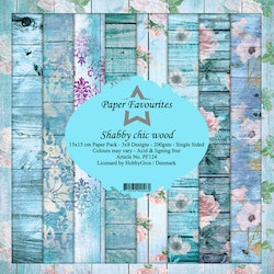 PF124BLOCK Shabby Chic Wood