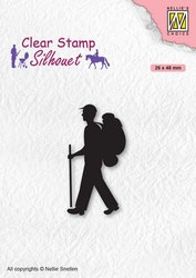 SIL067 Clearstamp Silhouette Backpacker