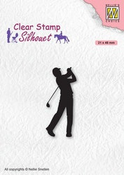 SIL069 Clearstamp Silhouette Golfare