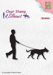 SIL070 Clearstamp Silhouette Hundpromenad