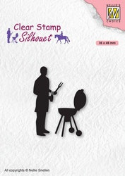 SIL071 Clearstamp Silhouette Barbecue