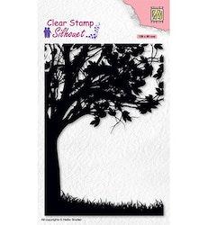 SIL074 Clearstamp Silhouette Träd att t.ex fästa gungor i