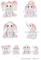 LDKL-313 Klippark Baby elefant rosa
