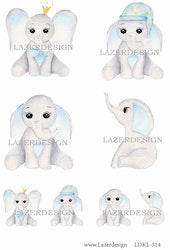 LDKL-314 Klippark Baby elefant blå