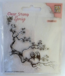 SPCS017Clearstamp Spring lovers