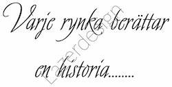 8174Stämpel Varje rynka har en historia