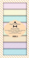 PFS003 Mönsterpapper slimcard Pastel Stripe