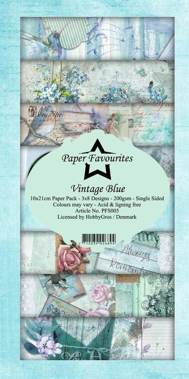 PFS005 Mönsterpapper slimcard Vintage Blue
