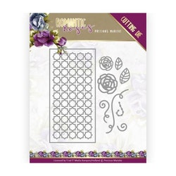 PM10199DIES Rose fence Rectangle