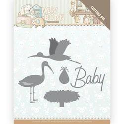 YCD10234DIES Baby Stork