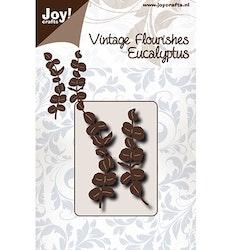 6003-0093DIES Vintage Flourishes Eucalyptus