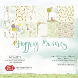 CPB-FR15BLOCK Hopping Bunnies 15 x 15 cm