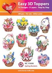 HC11698 3-D Toppers Spring Basket