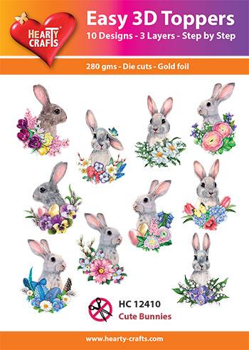 HC12410 3-D Toppers Cute Bunnies