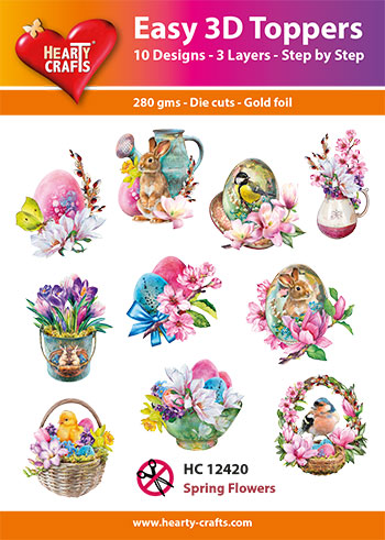 HC12420 3-D Toppers Spring Flowers
