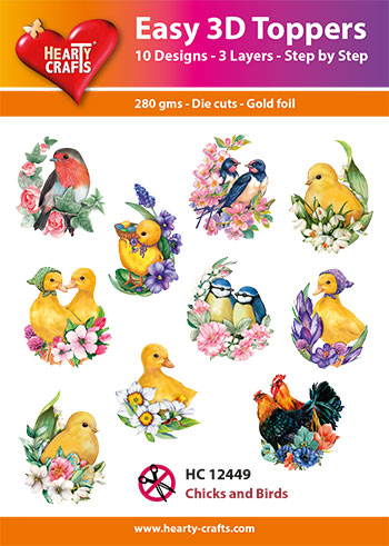 HC12449 3-D Toppers Chicks and Birds