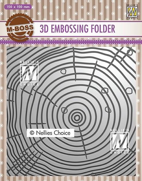 EF3D022Embossingfolder Wood Growth Rings