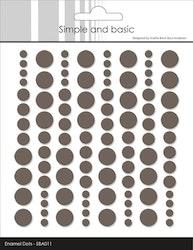 SBA011 Enamel dots Warm Grey