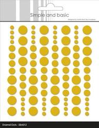 SBA012 Enamel dots Mustard