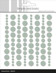 SBA013 Enamel dots Sage