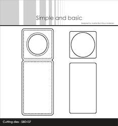 "SBD137DIES Mini Piecerd Bottle Label"""